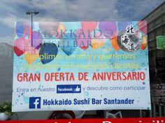 #FelizSemana Gran oferta aniversario en Hokkaido Sushi Bar de Santander #Cartelería #Copiplus #QueremosImpresiónArte