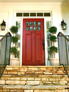 Ideas for boosting curb appeal. I like this door.
