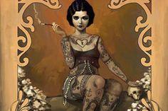 Tattooed Pin Ups Dutch Artist, Rudy Jan-Faber – view more (tattooed) images @ http://www.juxtapoz.com/Current/tattooed-pin-ups-dutch-artist-rudy-jan-faber – #onourradar #amazingtattooedlady #pinups