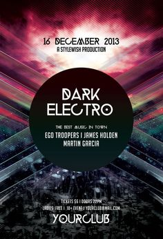 Dark Electro Flyer by styleWish on Graphicriver (PSD Template)