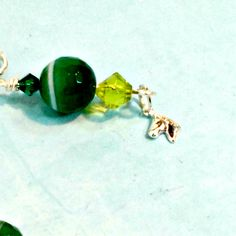 Earrings HORSE CHARM green Fire Agate clip or pierced handmade by Pat2 by RememberThis3 on Etsy