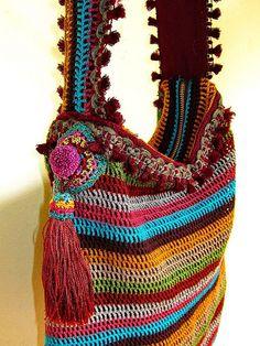 ~ crochet bag by me ~ by AowDusdee, via Flickr