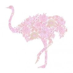 IDEA: Create fun wall decorations using fancy wallpaper, but kid-inspired designs. I LOVE this ostrich!