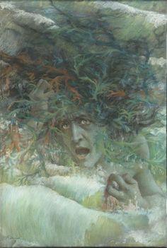 1897+Levy-Dhurmer (1865-1953). Méduse, dit aussi La Vague furieuse