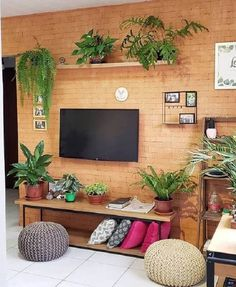 Home Room Design, Master Bedroom Design, House Design, Decoration Plante, Tv Wall Design, House Plants Decor, Living Room Tv, Creative Decor, Interior Design