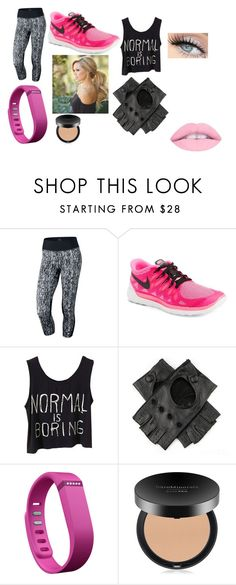 """""""exercise clothes"""" by bellskids on Polyvore featuring NIKE, Black, Fitbit and Bare Escentuals"""