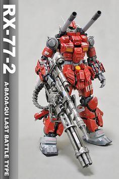 GUNDAM GUY: MG 1/100 RX-77-2 Guncannon - Customized Build