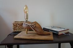"""""""Madame"""" table lamp made from an old shoe form"""