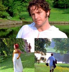 Elizabeth: Mr. Darcy!  Darcy: Miss Bennet! I . . . eh [...] Um... Well, I . . . I'm just arrived myself. And your parents are in good health, and all your sisters?  ~ Pride and Prejudice (1995)  www.facebook.com/TheLiteraryHeroes