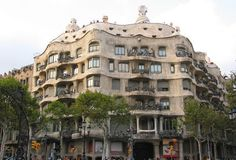 La Pedrera...This is one of Gaudí's main residential buildings and one of the most imaginative houses in the history of architecture.  This building is more a sculpture than a building.  The façade is a varied and harmonious mass of undulating stone that, along with its forged iron balconies, explores the irregularities of the natural world.