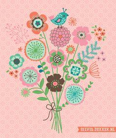 Illustration of florals
