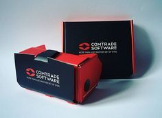 Nice work by our designer @katarina.kresic for a client that wanted custom #VR goggles. The packaging makes all the difference when comparing it with #googlecardboard - a really nice giveaway!