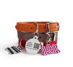 For the pet lover in your life. Choose a fun/colorful pattern and enter contact information using our secure QR code technology. Cute tags to match the pets personality, and safe information in case they go missing!