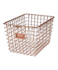 Loving this Copper Small Storage Basket on #zulily! #zulilyfinds