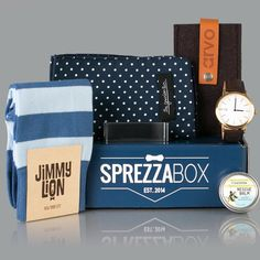 @sprezzabox The Hudson Box. One of the best sellers available in the store.  SprezzaBox.com by menstailoredfit