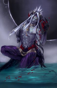 Ruusu by nercali on DeviantArt Male Character, Fantasy Character Design, Character Portraits, Character Design Inspiration, Character Concept, Dark Fantasy Art, Fantasy Male, Fantasy Warrior, Demon Manga