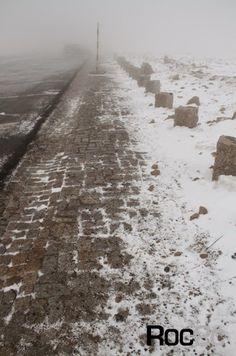 Calçada em granito Serra da Estrela, Covilhã Neve