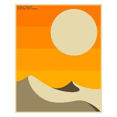 Jazzberry Blue Death Valley Landscape A2 Framed Print: Dreaming of Californian Desert? Dune inspired print by Jazzberry Blue.