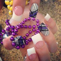 Plaid nails -- purple and grey loooveeee!