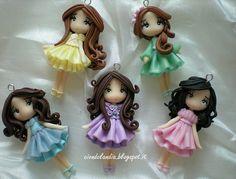 Polymer Clay Chili Doll Pastel #fimo #fimoclay #fimodoll #chibi #kawaii #
