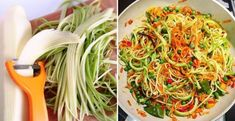 Fit cuketové rezance - Receptik.sk Japchae, Detox, Cabbage, Spaghetti, Healthy Recipes, Healthy Food, Cookies, Vegetables, Ethnic Recipes