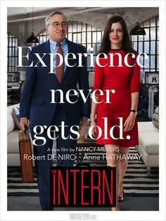 The Intern Anne Hathaway and Robert De Niro. Borderline cheezy, but the characters were great. Robert De Niro is so classy and charming. Film 2015, 2015 Movies, Hd Movies, Movies Online, Watch Movies, Netflix Online, Latest Movies, Movies And Series, Movies And Tv Shows