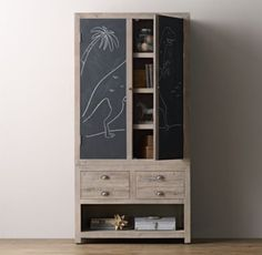 Weller Double Chalkboard Cabinet Top $719