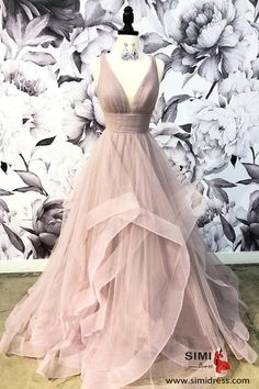 Charming Blush Pink V-Neck Tulle Prom Dress,Backless Evening.- Charming Blush Pink V-Neck Tulle Prom Dress,Backless Evening Dress Charming Blush Pink V-Neck Tulle Prom Dress,Backless Evening Dress sold by Hellomisspuff on Storenvy - Prom Dresses Long Open Back, Prom Dresses Long Pink, Straps Prom Dresses, Pretty Prom Dresses, Backless Prom Dresses, Tulle Prom Dress, Homecoming Dresses, Sexy Dresses, Formal Dresses