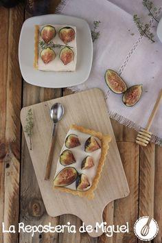 Tarta de Higos con Crema de Tomillo y MIel