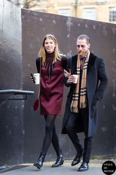 Veronika Heilbrunner and Justin O'Shea Street Style Street Fashion Streetsnaps by STYLEDUMONDE Street Style Fashion Blog