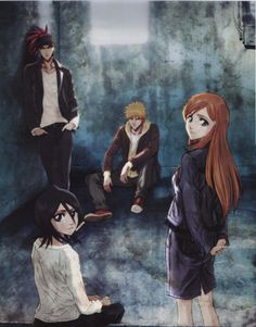 Some of the main cast of Bleach.