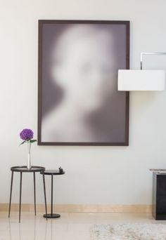 A photograph by Iraqi artist Halim Al Karim. En Vogue side table and lamp