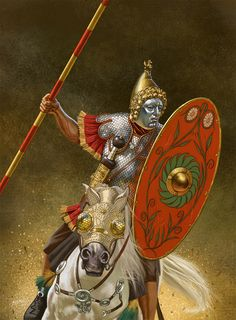 roman heavy cavalry, face mask