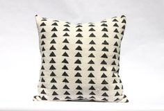 African Mud Cloth Mudcloth Black and White Ivory by WovenRivers