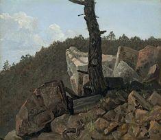 "Carl Gustav Carus - ""Tree on Stone"""