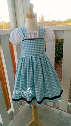 Wizard of Oz Dress  Dorothy Dress  Character by HeartmadeCreations