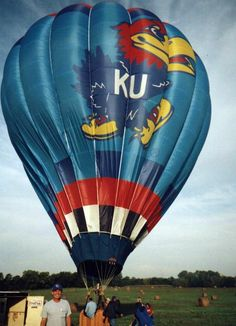Kansas Jayhawks Hot Air Balloon. I'd love to go for a ride in this