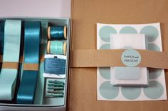 cute packaging for gift wrap kit