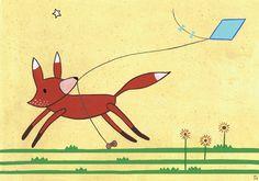 A fox and a kite
