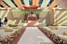 Decor for Anand Karaj Ceremony; Bougainvilla Designs