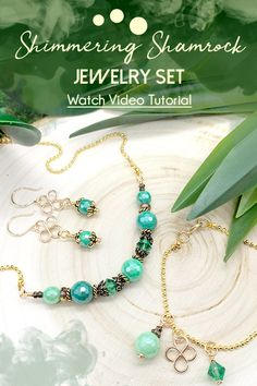 Shake your shamrocks, it's Maker Monday! We're making a beautiful Shimmering Shamrock jewelry set using the Mystic Bead Strand in Forest Green Opal and a TierraCast Bead Mix. Jewelry Sets, Jewelry Making, Diy Jewelry Projects, Green Opal, Wire Wrap, Shake, Mystic, Beaded Jewelry, Jewerly