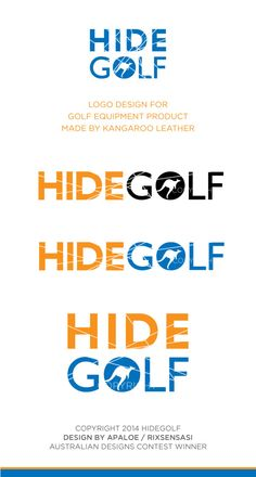 HIDEGOLF - Golf Equipment Product Logo Design Winner