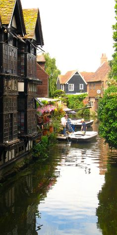 Stour River in Canterbury, England.