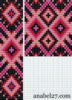 схемы для бисероплетения, ткачество, гердан, гайтан, bead pattern loom beading beadwork by Maude Lang