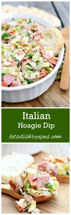 Italian Hoagie Dip Recipe   All your favorite sub sandwich fixings in a delicious and easy to eat dip. Such a fun appetizer!