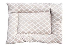 GoodDogBeds Cuddle Fabric Rectangle Crate Pad Size 100 Beige Moroccan * Continue to the product at the image link.