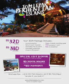 Pulau Perhentian - Sharila Resort Packages Snorkeling, Special Gifts, Islands, Packaging, Life, Diving, Wrapping, Scuba Diving