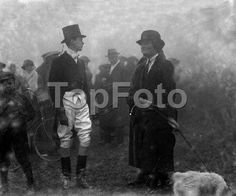 Meet Of The Quorn Hunt at Egerton Park, Melton Mowbry. Lord Ivor Spencer-Churchill & Lady Irene Curzon (c. 1923).