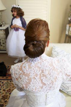 Bride's upstyle