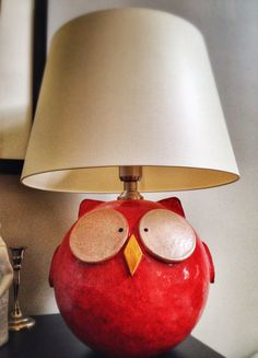 Ceramic owl lighting by Hedonia